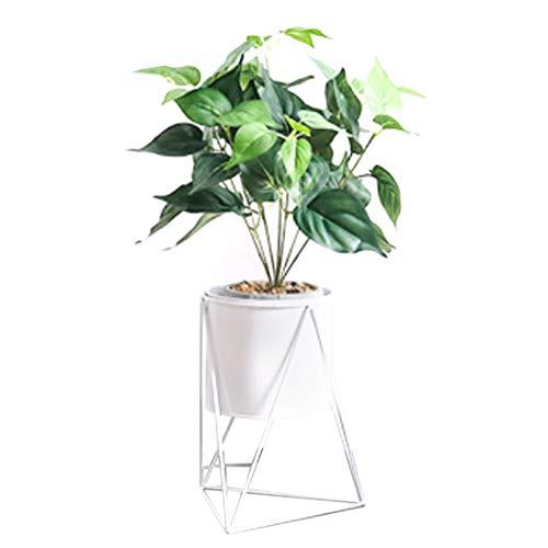 YAHAMA Blumentreppe Metall Innen Blumenständer Metall Modern Pflanzenständer Weiß Pflanzregal Blumenregal