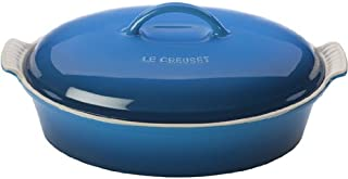 "Le Creuset Stoneware Heritage Covered Oval Casserole, 4 qt. (14""), Marseille"