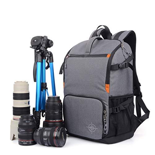 屋外多機能防水SLRカメラバックパック大容量ファッションショックプルーフトラベル/写真/ビデオ/三脚トラベルバッグ、大人,Gray