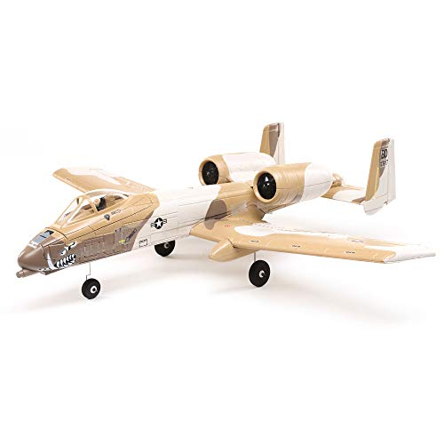 E-flite RC Airplane UMX A-10 Thunderbolt II 30mm EDF BNF Basic (Transmitter, Battery and Charger not Included) with AS3X and Safe Select, 562mm, EFLU6550