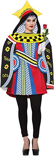 Bristol Novelty 76830 - Costume da regina di carte, taglia adulto, da donna, come mostrato, 45-44