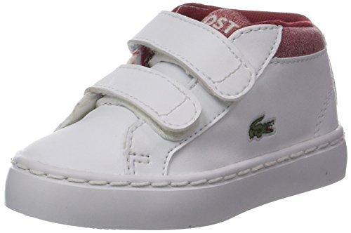 Lacoste Unisex Baby Straightset Chukka 317 1 Trainer, Weiß (Wht/red), 23.5 EU