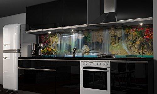 """Küchenrückwand Folie selbstklebend """"Wasserfall"""" Klebefolie Dekofolie Spritzschutz Küche verschiedene Größen"""