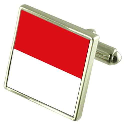 Select Gifts En Argent Sterling de manchette Drapeau Monaco
