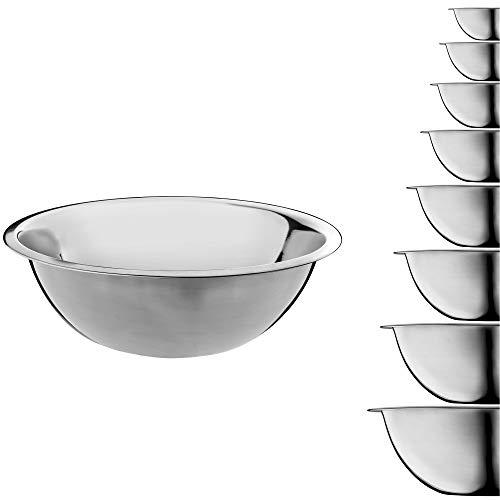KADAX Schüssel aus Edelstahl, Rührschüssel, Salatschüssel mit hohem Rand, multifunktionale Küchenschüssel, Servierschüssel, Edelstahlschüssel für Küche, Salat, Teig, rund (Ø 20 cm)