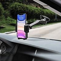 Mpow Soporte Coche Movil, Salpicadero/Parabrisas Porta Movil para Coche con Rotación de 360°, Universal Soporte Telefono Coche con Ventosa Fuerte Soporte Coche Movil para iPhone11 Pro MAX X 8, y ect