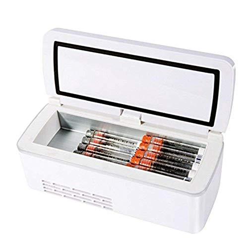 MQJ A1 175X56X26Mm Caja Refrigerada de la Insulina de 55 Horas 2-8 ℃ Termostato Drogas Reefer Coche Portátil Refrigeradores Caso Refrigerador O Viaje Hogar Coche Menos de 35 ℃ con Hot Cool Dual Contr