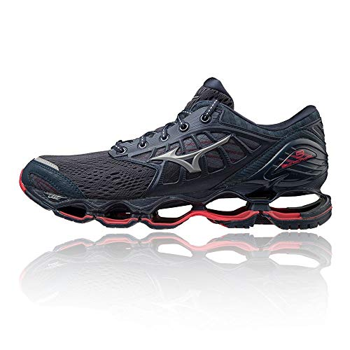 Mizuno Wave Prophecy 9, Scarpe per Jogging su Strada Uomo, Moodindigo/Grey/Red Lollipop, 44 EU