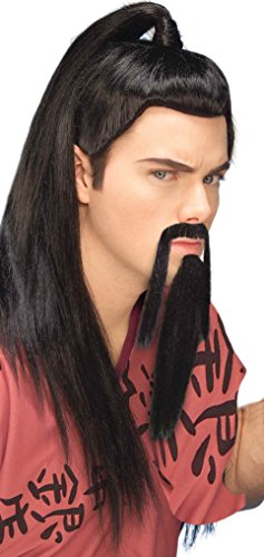 Forum Novelties Men's Novelty Warrior Beard and Mustache, Black, One Size