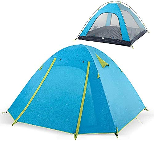 3-4 People Camping Tent Waterproof Sunscreen Dome Instant Lodge Asylum Wilderness Survival Mountaineering,Blue