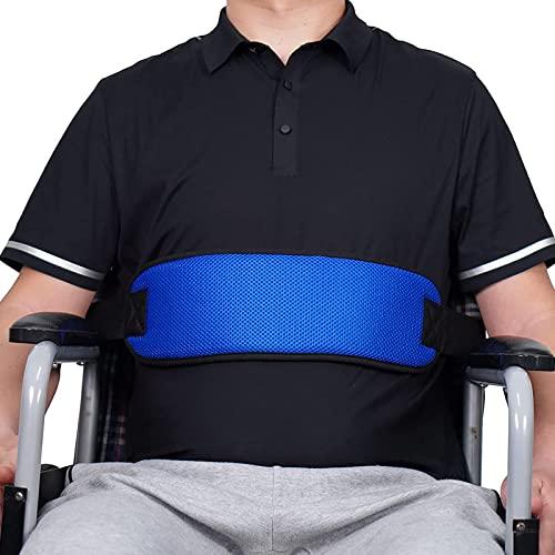 Allwin Rollstuhl-Sicherheitssitz-Rückhaltegurt, Verstellbarer Gurt Stuhl Taille Beckengurt Pflege Für Patienten Und Ältere Menschen (Blau)