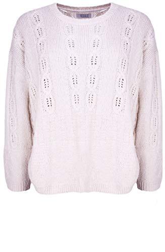 Masai Clothing Fasana-Pullover, Zopfmuster, cremefarben Gr. L, Whitecap