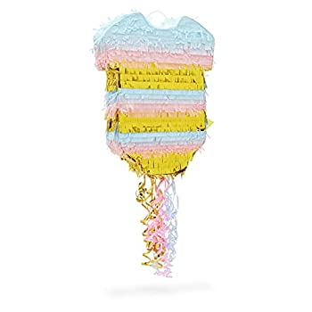 Baby Pajama Pull String Pinata Gender Reveal Party Supplies  16.5 x 13 x 3 In