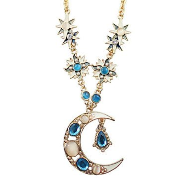JYZHP - Collar con colgante de gota de cristal de ópalo para mujer, estilo vintage, para mujer 2014