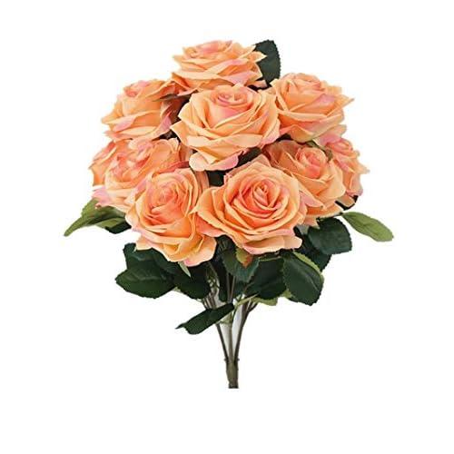 c30dde0d85744 Sweet Home Deco 18   Princess Diana Rose Silk Artificial Flower Valentine s  Day (10