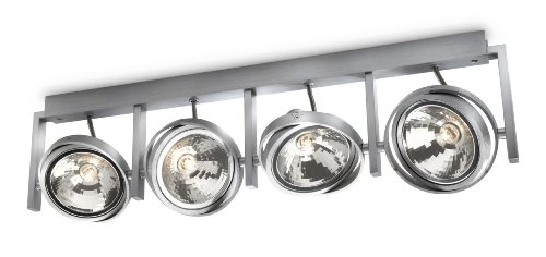 Philips myLiving, 530644816 Opbouwspot met 60 W, inclusief lampen, 4 lampen