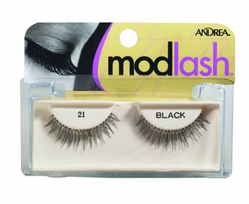 Andrea Mod Strip Lash Pair Style 21, black (Pack of 4)