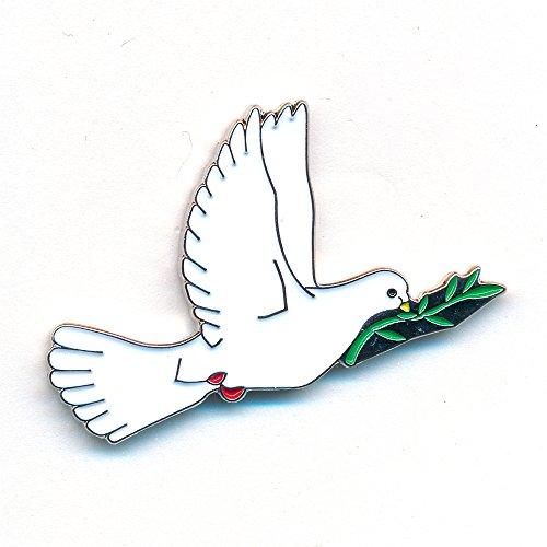 Taube Frieden Peace Liebe Friedenstaube Badge Metall Button Pin Anstecker 0834