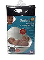 Safety 1st Portable Padded Baby Changing Pad with Water Resistant Cover Black by Safety 1st
