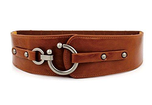 Oyccen Vintage Elástico Cinturón Mujeres Cinturones Ancho Corsé para Jeans Vestidos