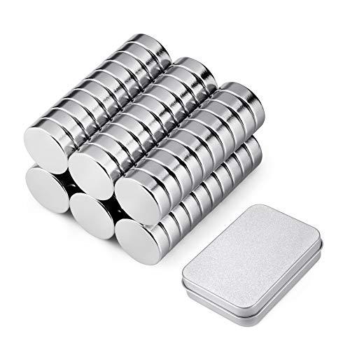 BTLIN ネオジム磁石 N35 小型 丸型 ネオジウム 磁石 強力マグネット 10 x 3mm 60個セット シルバー