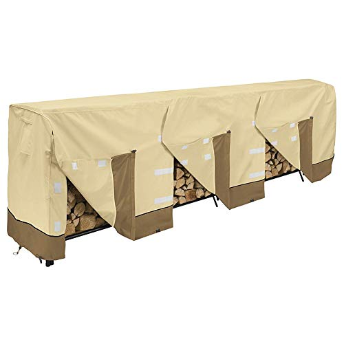 Fantastic Prices! QAZWSX Log Rack Cover, 600D Heavy Duty Waterproof Patio Firewood Rack Cover, Premi...