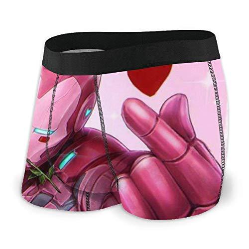 Kay Sam Beutel Boxer Slips Kurze Hosen Iron Man Pink Herren Unterwäsche Stretch Boxershorts für Männer Kurze Bein Unterhose Atmungsaktive, Bequeme Faserpackung