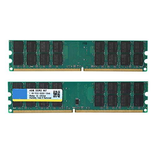 Topiky Memoria RAM DDR2, 4GB, PC2-5300, Módulo de Placa Base de Memoria de 240 Pines para AMD PC de Escritorio, Juegos sin retraso