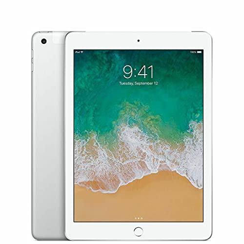 Apple iPad 5 32Gb Silver 9.7' A9 Wifi 4G Cellular Retina Bluetooth Webcam MP252LL/A (Ricondizionato)