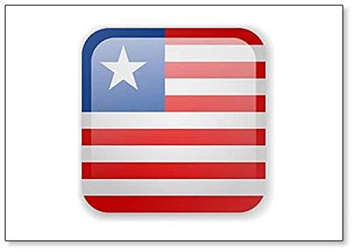 Kühlschrankmagnet, Motiv Liberia Flagge, quadratisch