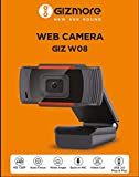 GIZMORE GIZ W08 Web Camera with Microphone, Auto Focus 1280x720 Web Camera for Video Calling Conferencing Recording, PC Laptop Desktop Webcam (Black)