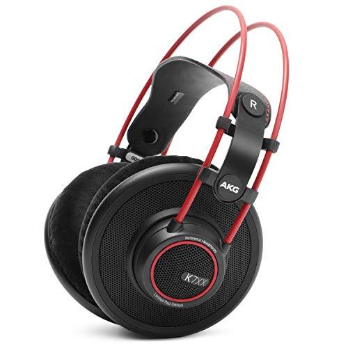 Massdrop x AKG K7XX — Reference Open-Back Audiophile Headphones — Pro Studio Over-Ear (Red)