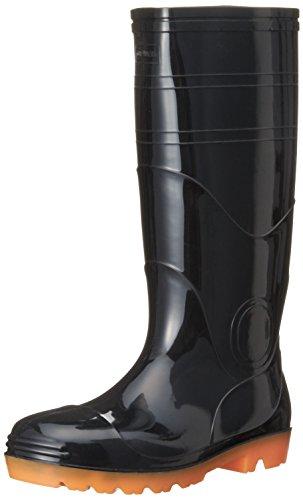 [キタ] 安全長靴 作業長靴 メガセーフティ PVC製 衛生安全長靴耐油ロングタイプ KR-7420 ブラック JP 29.0(29cm)