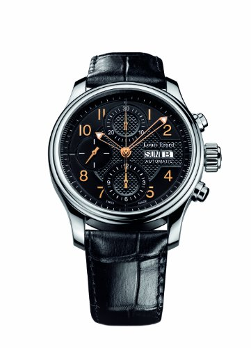 Louis Erard Men's 78269AA02.BDC02 Heritage Automatic Black Leather Chronograph Date Watch