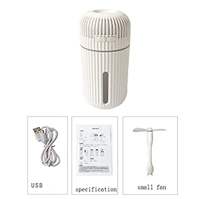 BXzhiri Small Humidifier, Mini Humidifier, Aromatherapy USB Air Cool Mist Humidifier Quiet Personal Diffuser with Night Light & Waterless Auto Shut-Off for Home Car Office Bedroom Baby