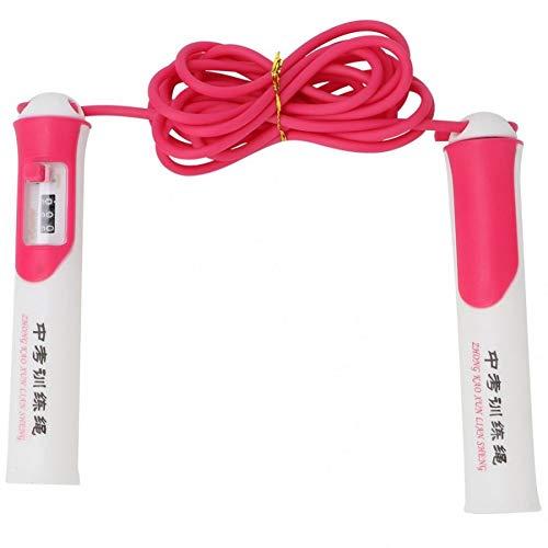 XIHUANM Seilspringen Rose Red Springseil Länge verstellbar Rutschfestes Springseil Leichtes Zähl-Springseil für Sportzubehör