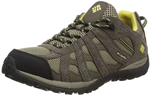Columbia Redmond Waterproof - Zapatillas de montaña para mujer, Marrón (Pebble / Sunlit), 36 EU