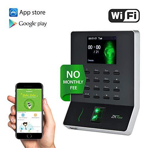 WL20 Biometric Fingerprint Time Attendance Terminal Time Clock Machine Attendance Machine Payroll Recorder Employee Checking-in Recorder (Digital Time Clock)