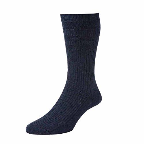 Damen 1 Paar HJ Halle Original-Cotton Socken Softop In 4 Colours - 4-7 Ladies - Marine