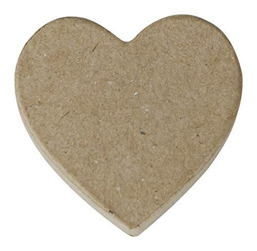 Decopatch-Un Support en Papier Brun mâché 1x7x7 cm, Magnet cœur Avec aimant Soporte, Color imán de corazón (Clairefontaine AC845C)
