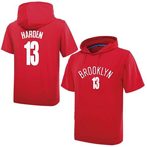 NQFL James Harden # 13 Jóvenes Manga Corta Sudadera Sudadera Sudadera Camisetas de Baloncesto Camisetas para Hombre Regalo (Color : Red, Size : XL)