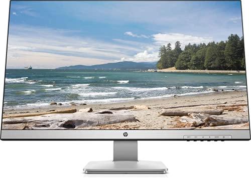 """HP 27q TN Monitor 27"""" QHD, 2ms con Overdrive, Low Blue Light, 2560 x 1440, Hdmi, Dvi, DisplayPort, Bordi Ultrasottili, Nero / Argento"""