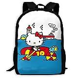 Mei-shop Mochila Informal Personalizada Hello-Kitty Pool Time Mochila Escolar...