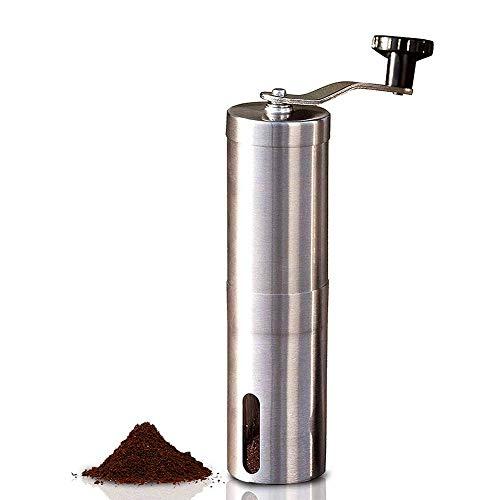 Handmatige koffiemolen met instelbare instelling - Conische braammolen & geborsteld roestvrij staal - Burr koffiemolen voor Aeropress, druppelkoffie, Espresso, Franse pers, Turks brouwsel
