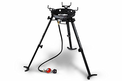 Eastman Outdoors 90411 Portable Kahuna Burner with XL Pot and Wok Brackets with Adjustable and Removable Legs