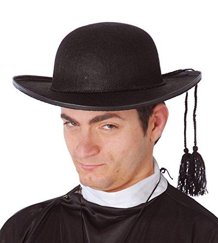 Priester Hut in Filz Kopfschmuck