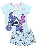 Disney Set Pigiama Corto Blu Lilo e Stitch Girl