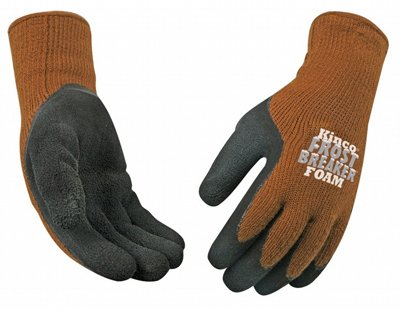 Kinco International 1787-XL Frost Breaker Work Gloves, Thermal, Latex Palm, Brown Knit, XL - Quantity 6