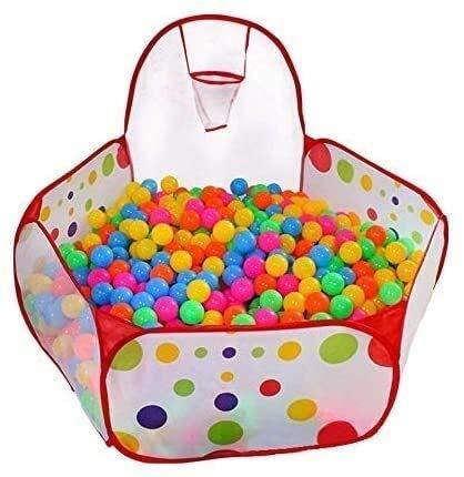 Los niños de la bola del hoyo, for interior y exterior Parque infantil tienda del juego de bola del hoyo de la piscina con aro de baloncesto con cremallera bolsa de almacenamiento (bolas no incluido)