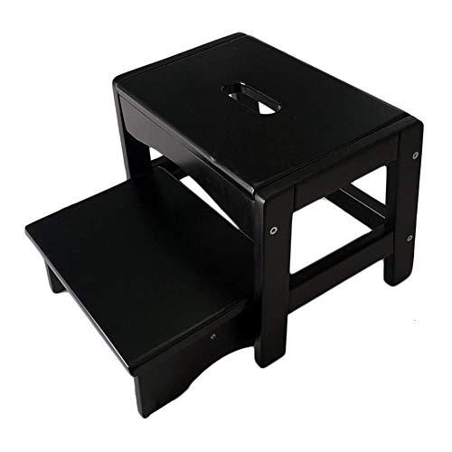 ZFFSC Taburete de escalera de madera maciza taburete para adultos Banco de zapatos de hogar portátil de taburete bajo multifunción taburete taburete